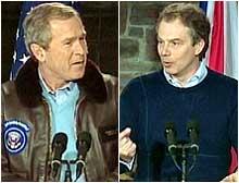 photo: George W. Bush and Tony Blair