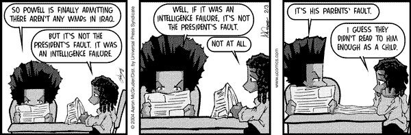 The Boondocks: Intelligence failure