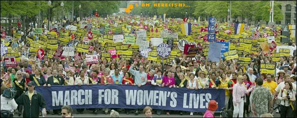 photo: a MILLION march for choice!