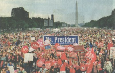 photo: 1.15 million marchers rally on the Mall