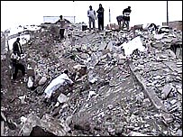 photo: a hospital in Fallujah razed to the ground
