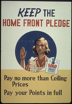 "poster: ""Keep the Home Front Pledge: Pay no more than Ceiling Prices. Pay your Points in full."""