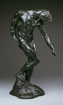 """A nude sculpture entitled """"The Shade"""", by Auguste Rodin (1880)"""