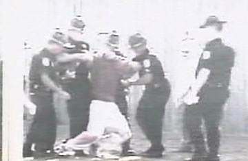 ... week after an all-white jury acquitted seven juvenile boot camp guards ...