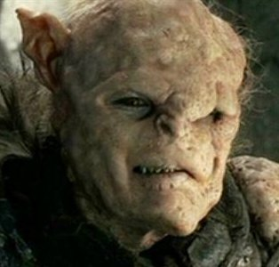 And here's a photo of Gothmog, Captain of Morgul, from the Return of the King, looking eerily similar.