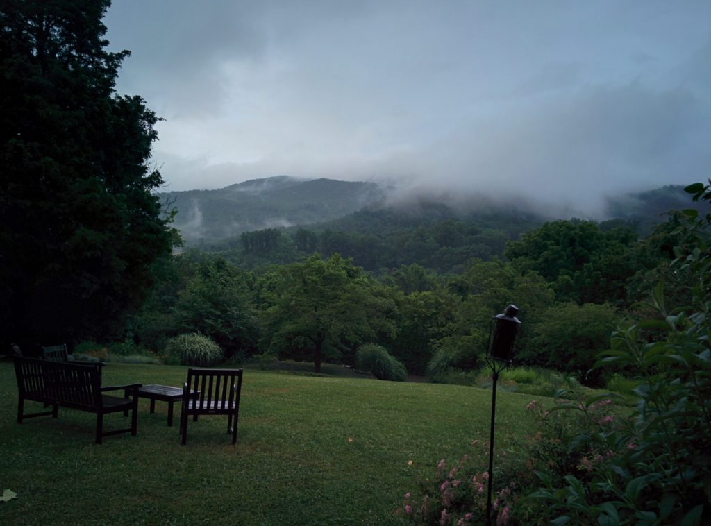 Here's a view of the Smoky Mountains, wreathed in mist.