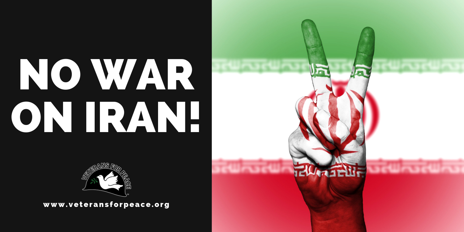 Here's a poster: NO WAR ON IRAN